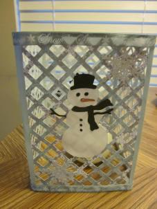 Snowman luminary