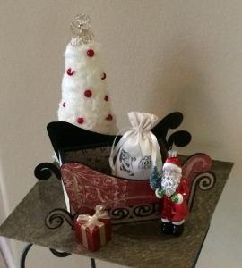 Santa sleigh Crhistmas card holder